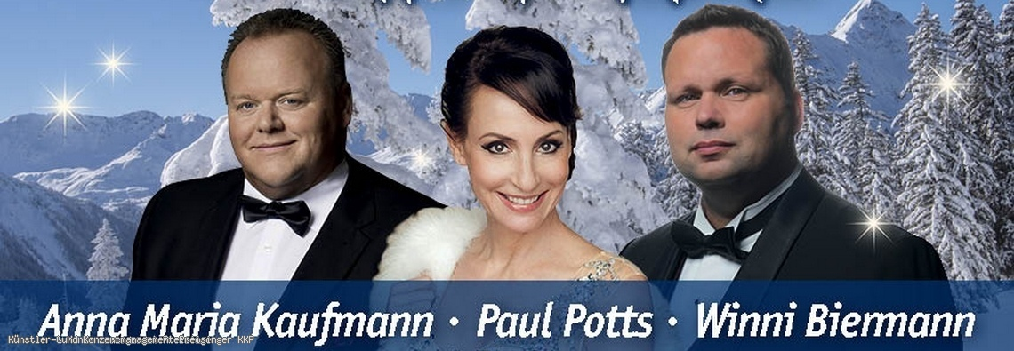 Paul Potts, Anna Maria Kaufmann und Winni Biermann