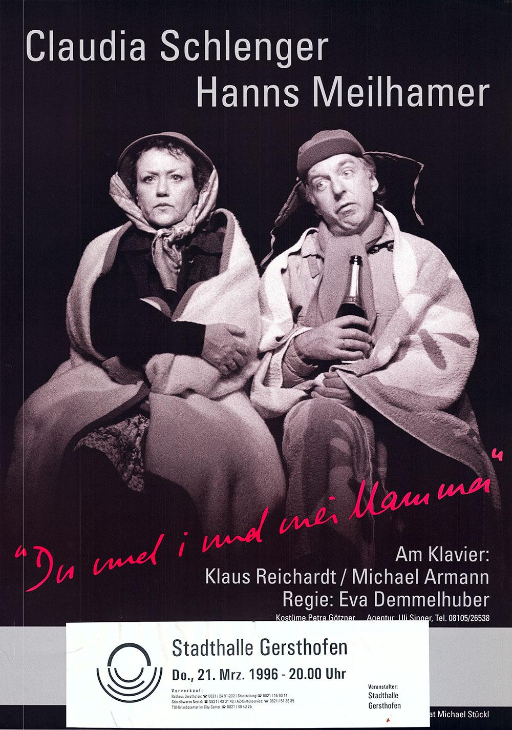 Als Herbert & Schnipsi 1996 das erste Mal in der Stadthalle Gersthofen waren