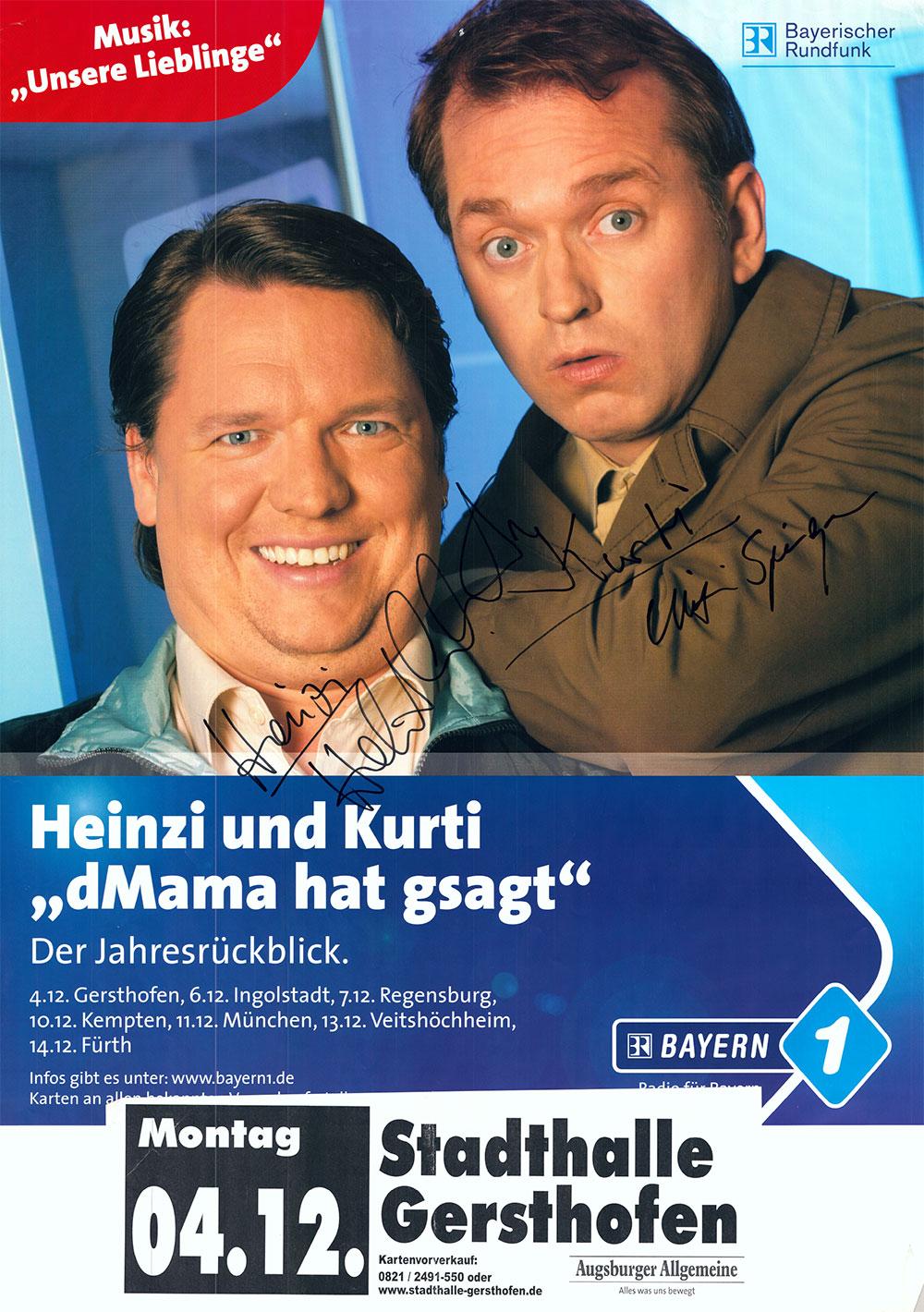 Vor 20 Jahren waren Helmut Schleich und Christian Springer