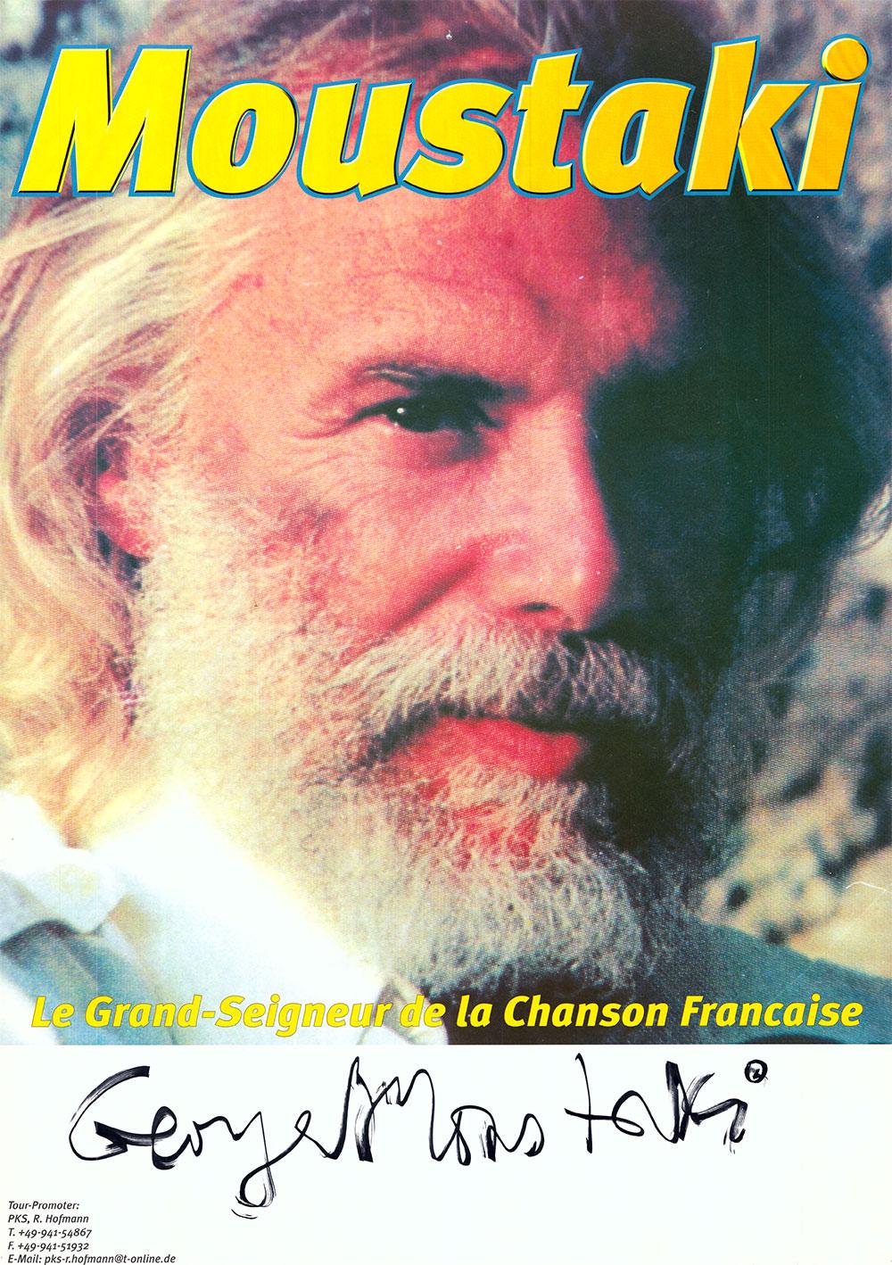 Mehr als 300 Chansons hat die Legende des französischen Chansons Georges Moustaki geschrieben